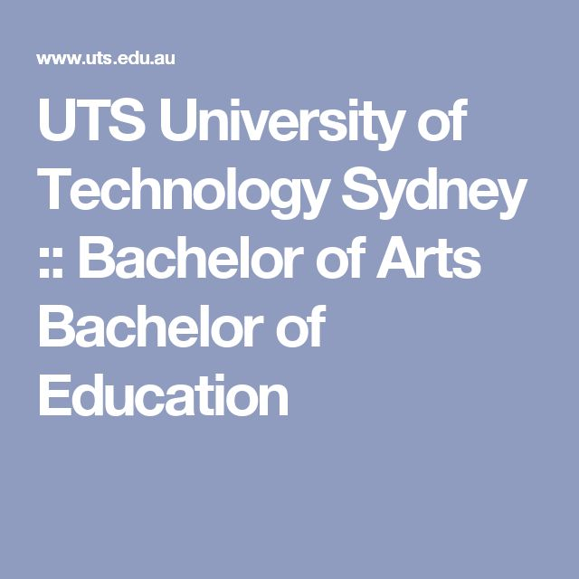 UTS University of Technology Sydney :: Bachelor of Arts Bachelor of Education