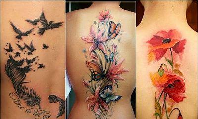Duże tatuaże na plecach - wzory jak dzieła sztuki!