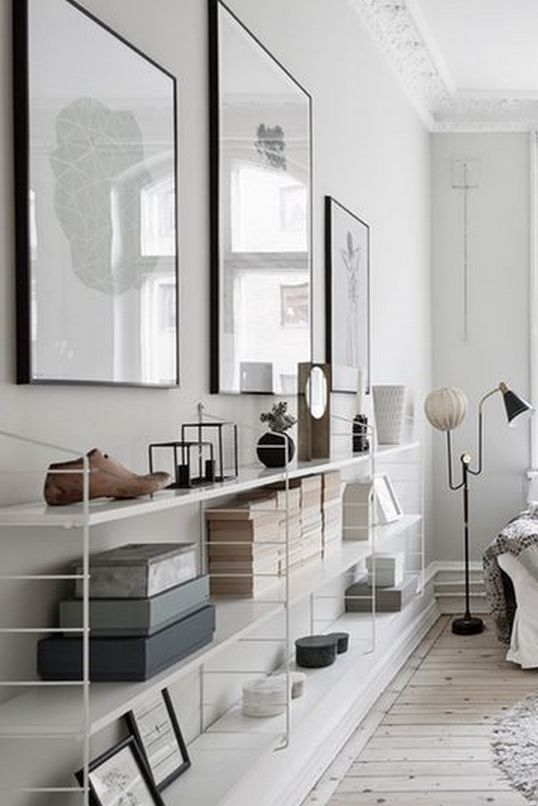 Minimalistic book shelf inspiration for the living room #scandinavianhome #interiorinspiration