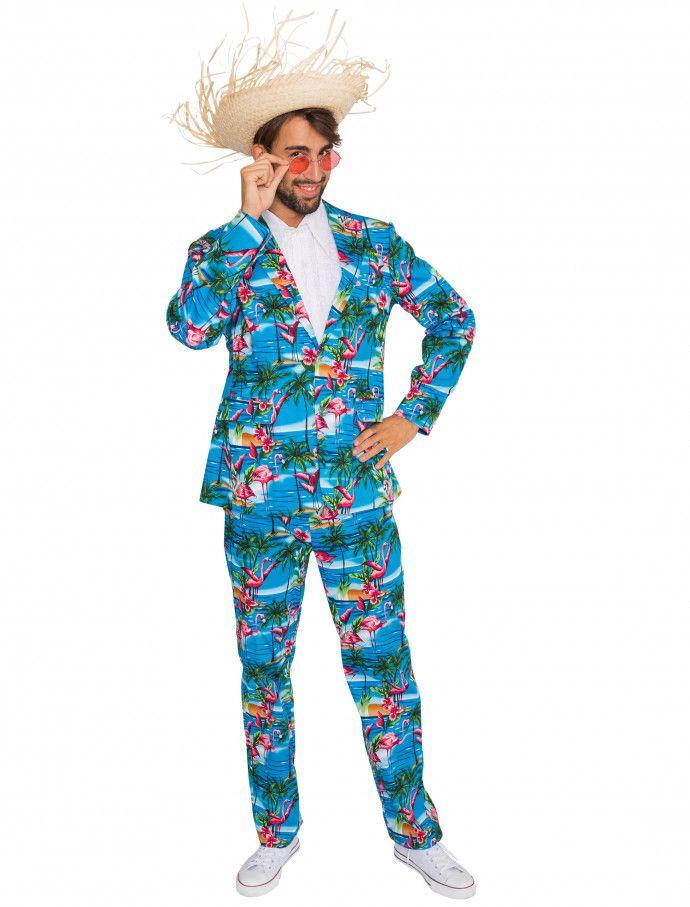 Anzug Flamingo Herren 2-tlg. für Karneval   Fasching » Deiters  Anzug   Flamingos  blau  pink  witzig  Herren  Mann  men  k…  c56c6e951b862