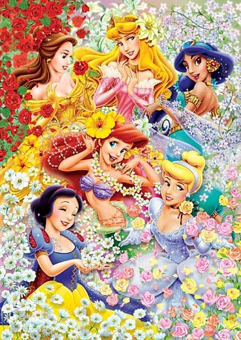 Tenyo Japan Jigsaw Puzzle DG-315-104 Disney Floral Wedding (315 Pieces)