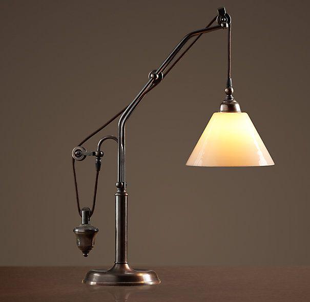 Restoration Hardware Black Light: Counterweight Task Table Lamp $449