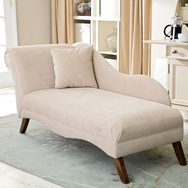 Best Contemporary Small Chaise Lounge Tufted With Pillow 400 x 300