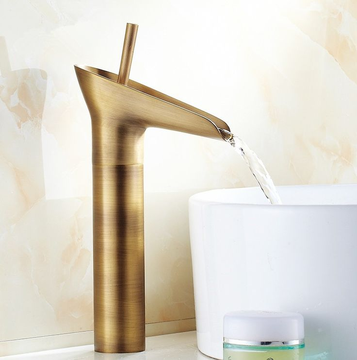 2016 Modern Design Antique Brass Open Spout Basin Faucets /Fashion Bathroom Mixer / Vintage bathroom sink faucet