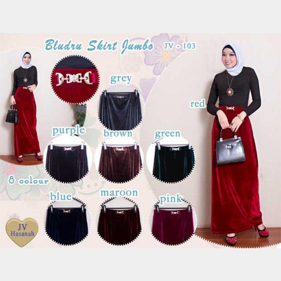 103 Bludru Skirt Jumbo | Rp 100.000