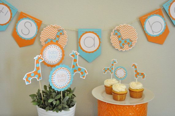 giraffe baby showers parties decorations baby shower decorations