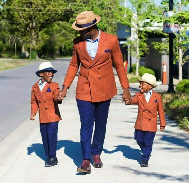 Black father and sons #family #mensfashion