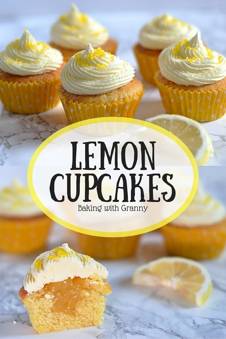 Lemon Cupcakes - Baking with Granny