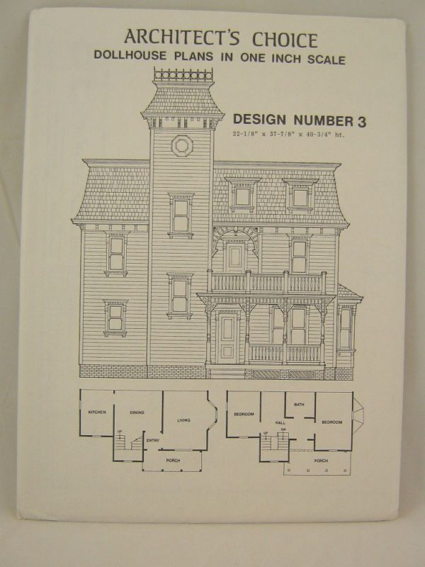 Dollhouse Plans Design 3 Architect S Choice 1 12 Scale Drawing Doll House Dollhouse Furniture Plans Doll House Plans