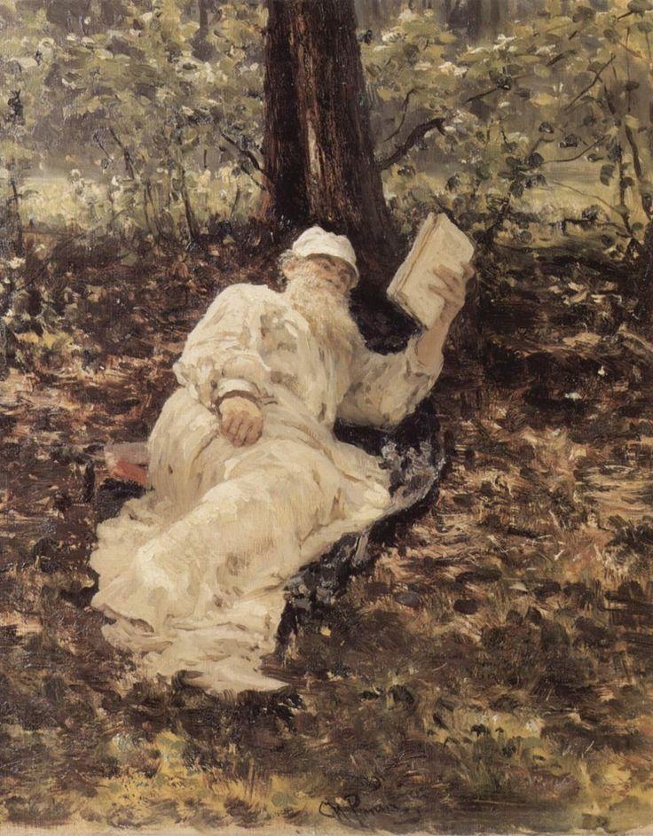 Ο Λέων Τολστόι κάτω από ένα δένδρο (1891)