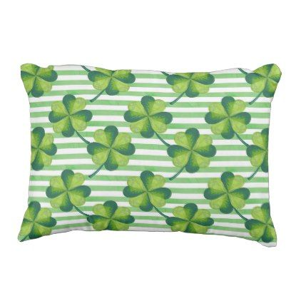 #customize - #Four Leaves Clover St. Patrick's Day Pattern Outdoor Pillow