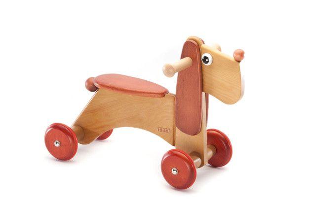 Juguetes de madera - Rüdiger Ride on Dog colored 00411QJ - hecho a mano por tedefamily en DaWanda