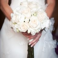 Pretty in White Bridal Bouquet - Pretty in White Bridal Bouquet > View Full-Size... | White, Pretty, Bouquet, Aud, Purchased |