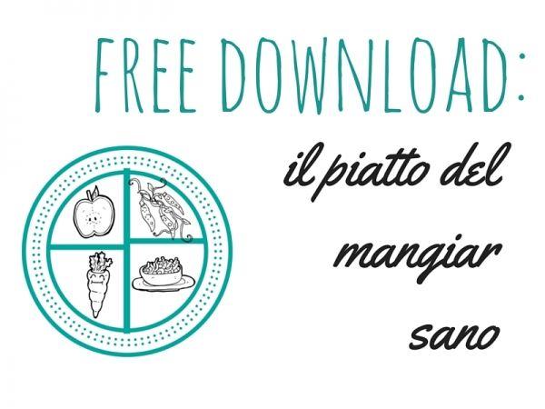 Insegnare ai bambini a mangiare sano: free download