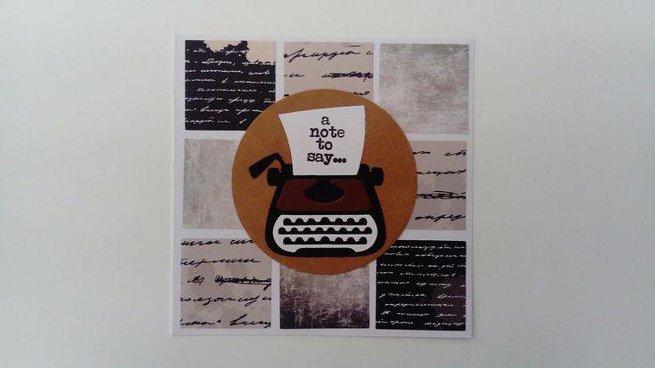 Kaart met typemachine