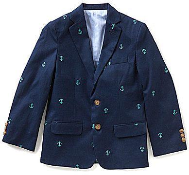 Class Club Big Boys 8-20 Schifli Anchor-Embroidered Blazer
