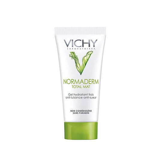 Vichy: Leave it to the French to come up with a primer that cools on contact, soaks up oil, and fights acne. Vichy Normaderm Total Mat Anti-Shine Mattifier ($25) does all that and leaves a fresh cucumber scent behind, making this the ultimate primer.