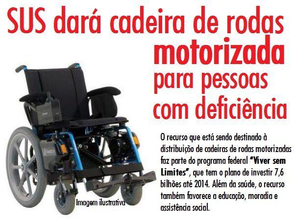COMO SOLICITAR UMA CADEIRA MOTORIZADA PELO SUS - PcD