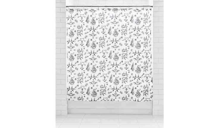 Buy George Home Tattoo Shower Curtain - Blue from our Home & Garden range today from George at ASDA.