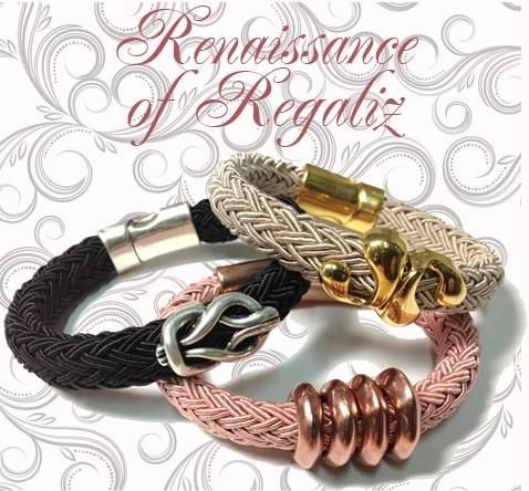 Renaissance of regaliz! Try all regaliz elements with the new regaliz polyester braided cord and shine again!find all the materials @ www.nikolisgroup.com
