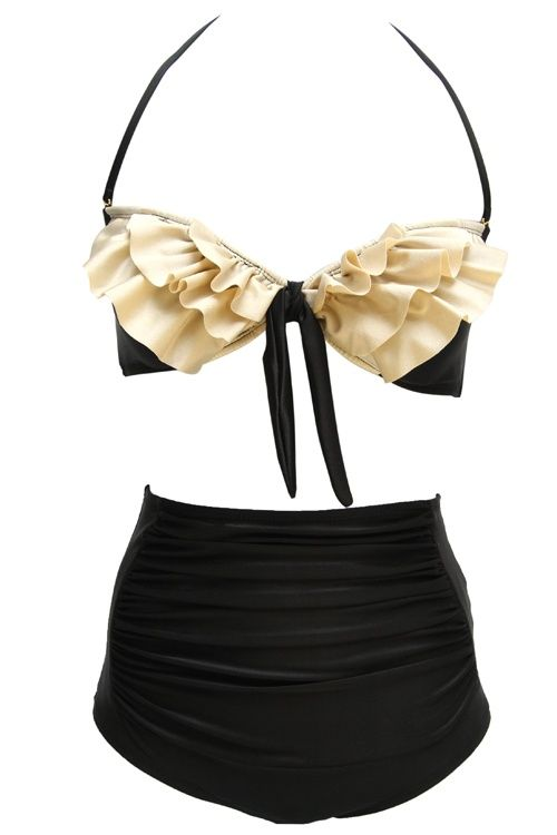 ruffled bikini...for us mami's that need a lil extra coverage!  cute!