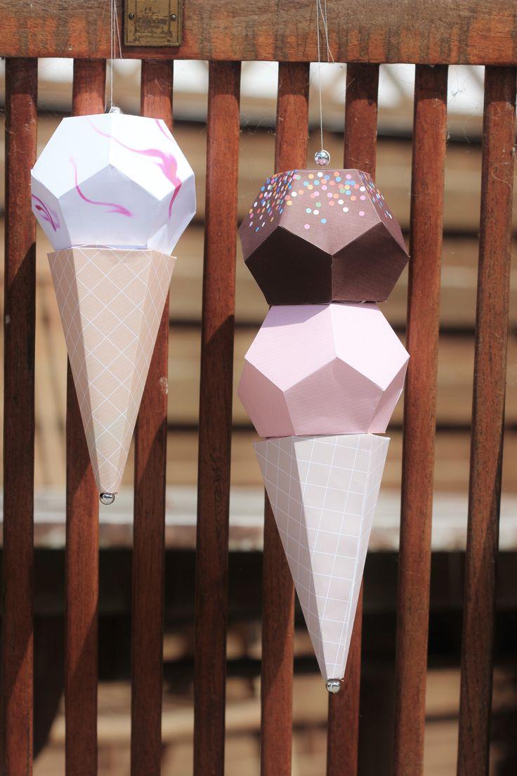 Ice cream waffles ♦ printables from Mr. Printables.com