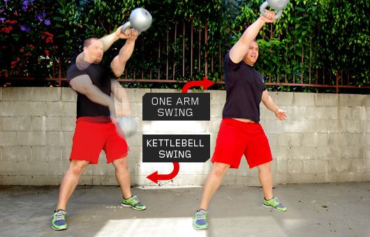 The kettlebell swing is king, one- or two-handed.