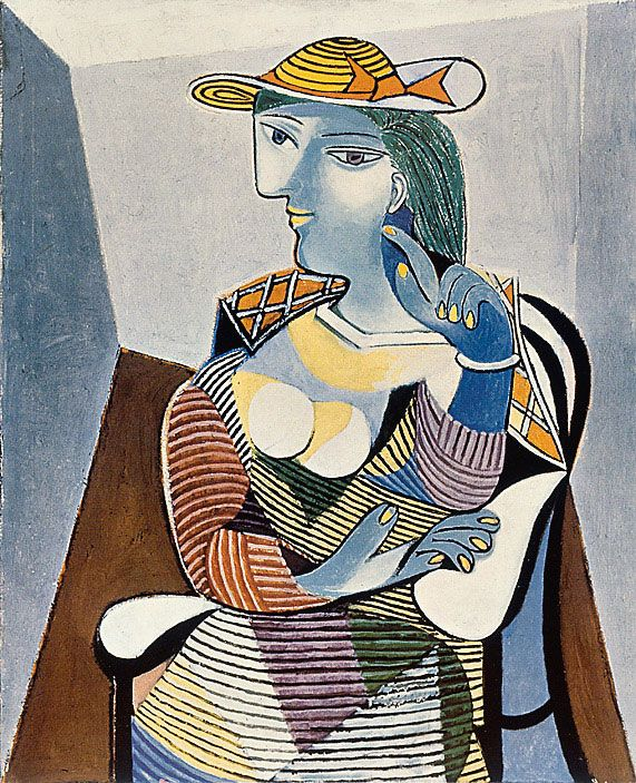 """Arts Pablo Picasso (hereinafter - """"The woman in the chair"""", 1937) and Georges Braque lot of impact on the development of modernism in other areas."""