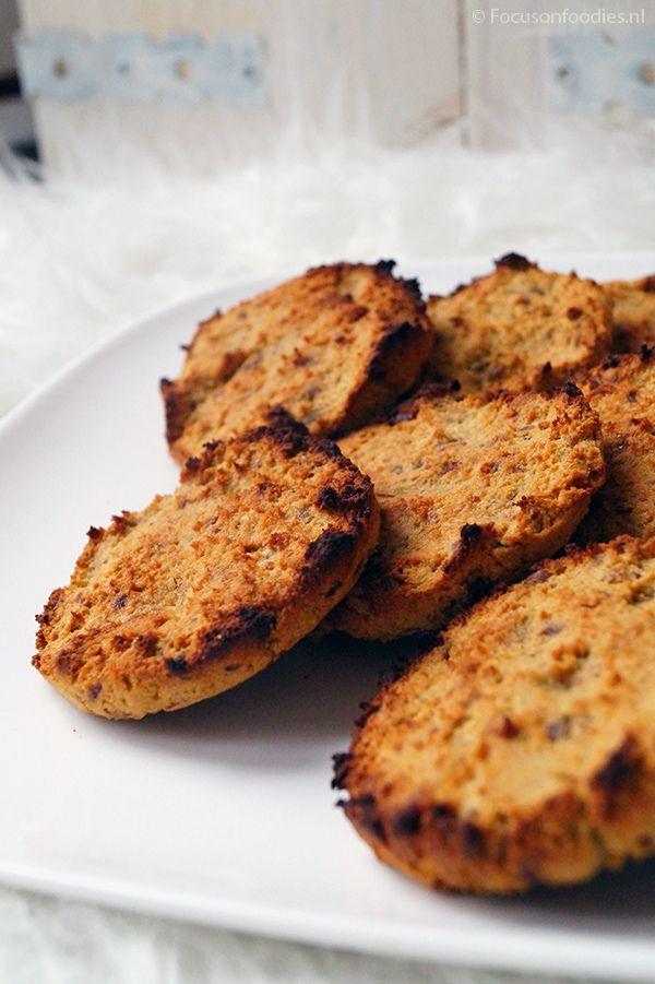 Glutenvrije kokoskoeken zonder suiker, met veel vezels.
