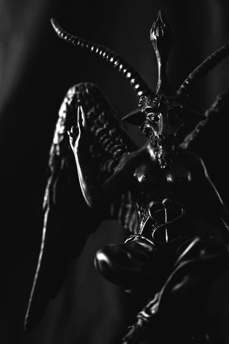 """demonicrux-blog1: """" Perhaps one of the more infamous demons is none other than Baphomet, who has become the official mascot of the Church of Satan and is today considered representative of both Theistic and LaVeyan Satanism alike. Baphomet is a demon..."""