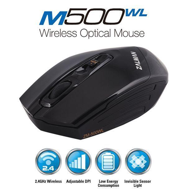 Zalman Wireless Optical Mouse M500WL USB 95g 3000dpi For PC Laptop Macbook Tab #Zalman