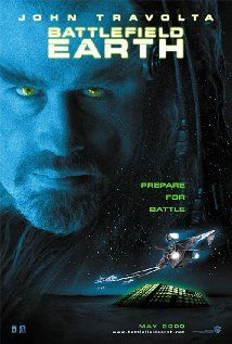 Battlefield Earth (2000). All of the aliens dress like Kiss band members and have bad English accents that come and go throughout the film.