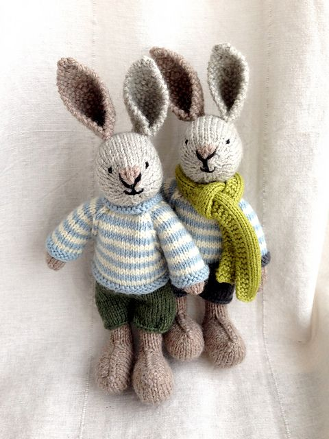 This listing is for an extensive PDF file which contains full instructions for knitting and finishing off a little cotton rabbit boy with a stripy sweater and shorts. Once paid for it is available for you to instantly download.