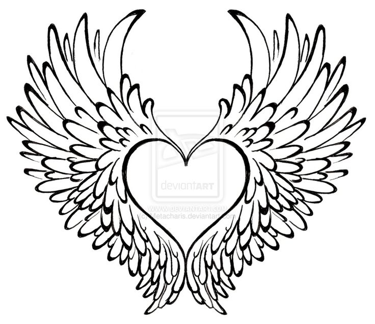 Heart with Wings Tattoo by ~Metacharis on deviantART. My carter tat... His name and DOB will go inside the heart.