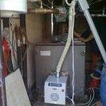 Προσαρμογή καυστήρα πέλλετ σε λέβητα πετρελαίου στον Ιερό Ναό Αγ.Θωμά στο Μακρυχώρι Τεμπών
