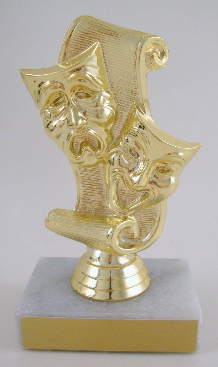 Drama Mask Trophy on Marble Base