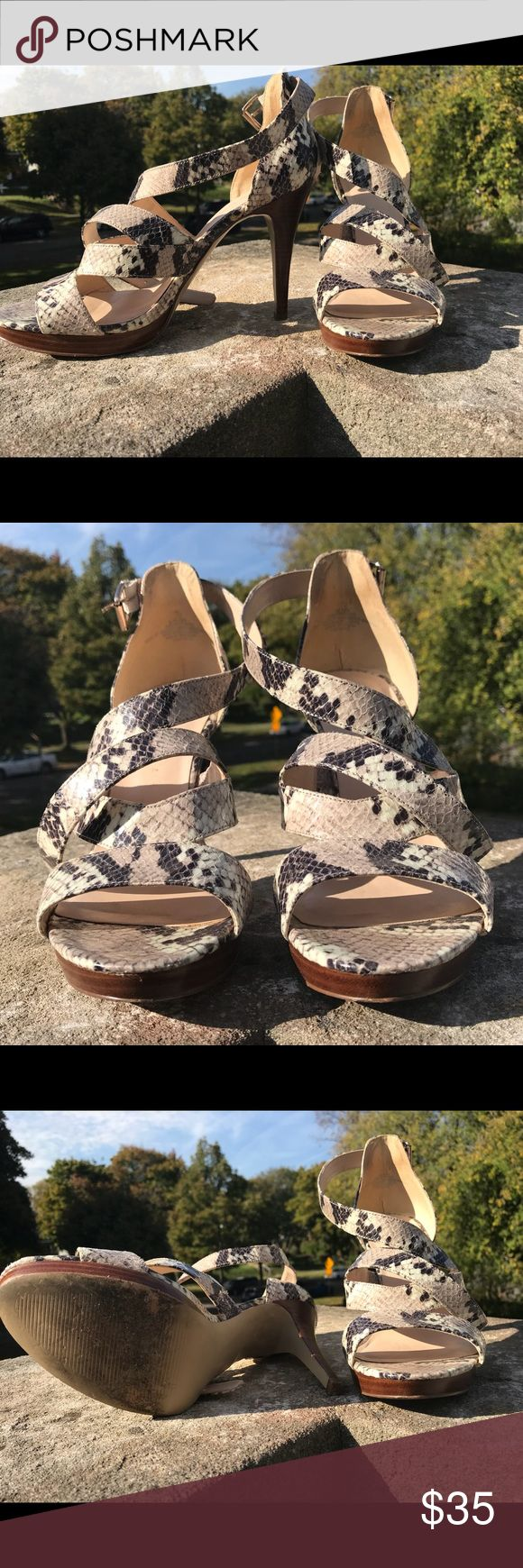Nine West Animal Print strappy sandals, Size 10.5 Gorgeous Animal Print Strappy Sandals. Great for jazzing up a boring black dress, GNO or date night! Like new! Nine West Shoes Heels