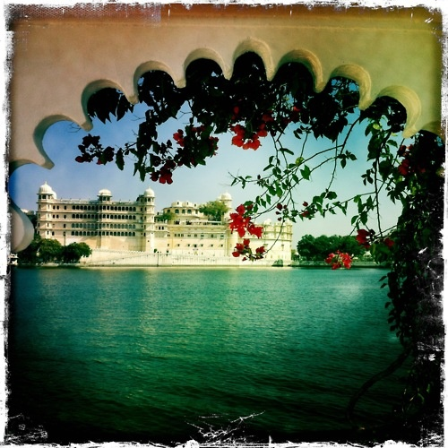 View from Lake Palace pool - Photographed by Collette Dinnigan