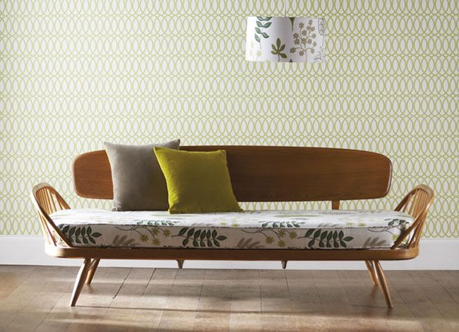 Mid-centuary modern take on greens (Harlequin Folia collection)