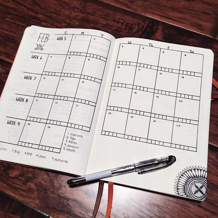 """""""Day 2 of the #planwithmechallenge is February Monthly. This month, I am doing something completely different for my calendar. I missed the calendar view…"""""""