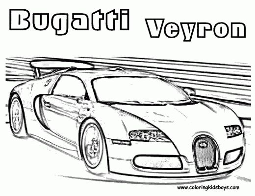 bugatti veyron race car coloring pages taken from coloring pages