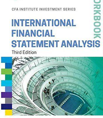 International Financial Statement Analysis Workbook 3 Edition PDF