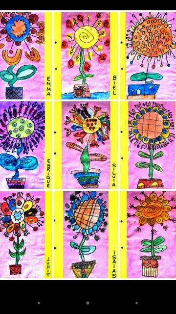 Flores con  plantillas