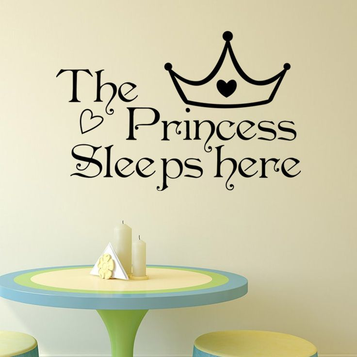 DIY The Princess Sleeps Here Vinyl Wall Stickers For Living Rooms Bedroom Window Decoration Decals Art Wallpapers Home Decor