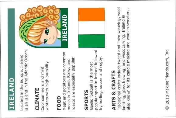 Ireland Thinking Day Passport Insert