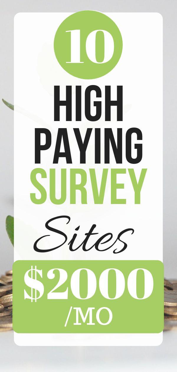 10 High-Paying Survey Sites $2000 /MO