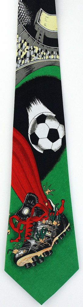 New Soccer Move Mens Necktie World Cup Football Ball Shoe Game Sports Neck Tie #Parquet #NeckTie