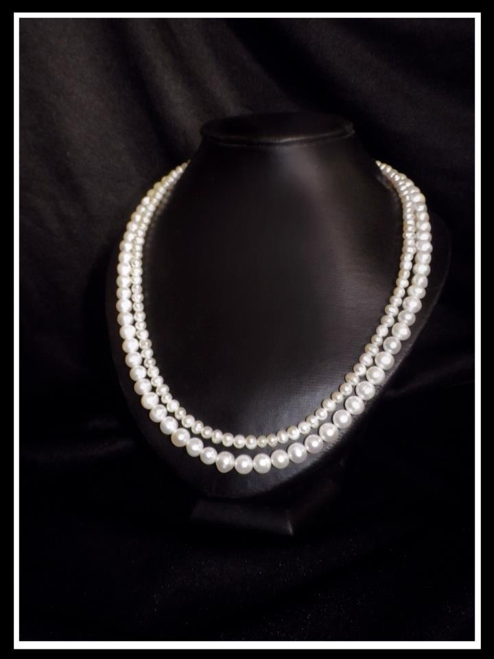 Double Strand Freshwater Pearl http://www.facebook.com/ZadiaDesigns