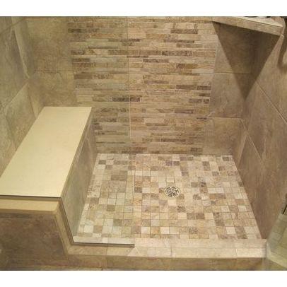 Built In Shower Seat Bathroom Ideas Pinterest Shower