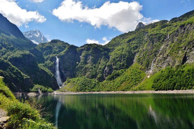 #Lac d' #Oo - #cascade #Peyragudes #Montagne #Pyrénées #Agudes #Peyresourde #Louron #Larboust #ski #snow #winter